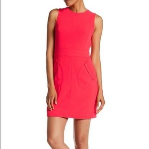 CeCe - Jenni Two Pocket Dress in Coral Pop